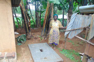 The Water Project: Bumira Community, Imbwaga Spring -  A Proud New Sanitation Platform Owner
