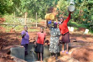The Water Project: Shikhombero Community, Atondola Spring -  Happy Faces On Site