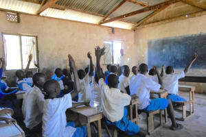 The Water Project: Gimarakwa Primary School -  Students Participating In Class