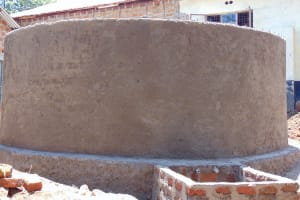 The Water Project: Banja Secondary School -  Outer Wall Cement Complete