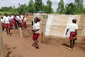 The Water Project: Mulwanda Mixed Primary School -  Students Help Collect Materials