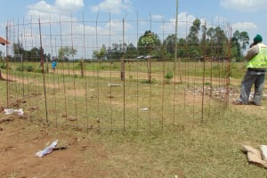 The Water Project: Ebukhayi Primary School -  Tank Rebar Ready