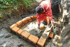 The Water Project: Imbinga Community, Imbinga Spring -  Brick Work