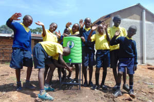 The Water Project: Kosiage Primary School -  Boys Using A Handwashing Station