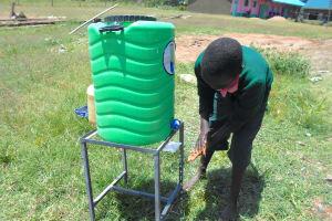 The Water Project: Ebukhayi Primary School -  Handwashing