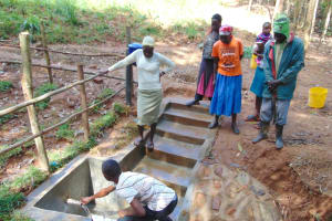 The Water Project: Shivembe Community, Murumbi Spring -  Learning About The Spring