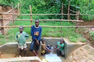 The Water Project: Kimarani Community, Kipsiro Spring -  Kids At The Spring