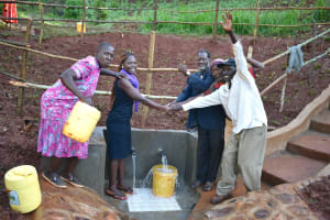 The Water Project: Busichula Community, Marko Spring -  Handing Over Session At Marko Spring