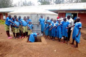 The Water Project: St. Joseph's Lusumu Primary School -  Look Flowing Water