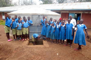 The Water Project: St. Joseph's Lusumu Primary School -  Smiles At The Rain Tank