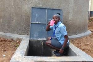 The Water Project: Banja Secondary School -  Enjoying A Fresh Drink