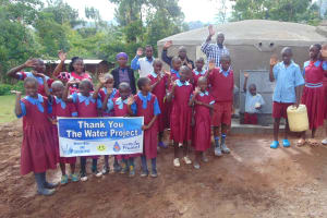 The Water Project: Kipchorwa Primary School -  Pupils And Staff Say Thank You