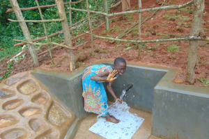 The Water Project: Jivovoli Community, Magumba Spring -  Feeling The Rushing Water