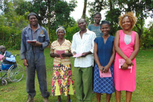The Water Project: Buyangu Community, Mukhola Spring -  Elected Water Committee Leaders