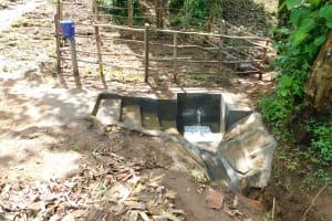 The Water Project: Imbinga Community, Imbinga Spring -  Newly Completed Imbinga Spring