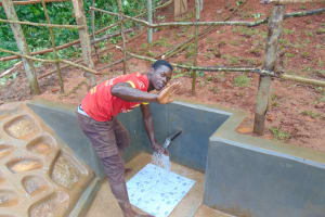 The Water Project: Jivovoli Community, Magumba Spring -  Enjoying The Spring