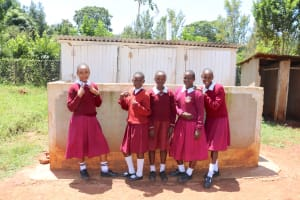 The Water Project: Ebukhuliti Primary School -  Posing With Latrines