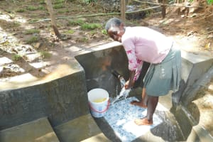 The Water Project: Imbinga Community, Imbinga Spring -  Happy For Flowing Water