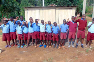 The Water Project: Kipchorwa Primary School -  Boys With Their New Latrines