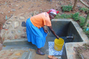 The Water Project: Shivembe Community, Murumbi Spring -  Happy Filling Up