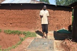 The Water Project: Shikhombero Community, Atondola Spring -  New Sanitation Platform Owner