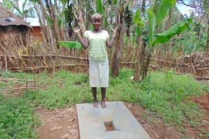 The Water Project: Jivovoli Community, Magumba Spring -  New Sanitation Platform Owner