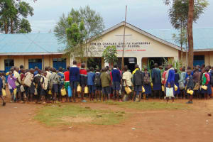 The Water Project: Kapsegeli KAG Primary School -  Pupils Gather At Morning Assembly