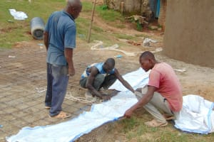 The Water Project: Kosiage Primary School -  Preparing The Dome Skeleton