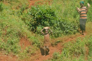 The Water Project: Busichula Community, Marko Spring -  Carrying Rocks To Site