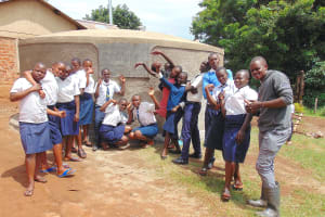 The Water Project: Kamimei Secondary School -  Celebrating The Completed Rain Tank
