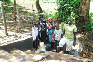 The Water Project: Imbinga Community, Imbinga Spring -  Thumbs Up For Clean Water