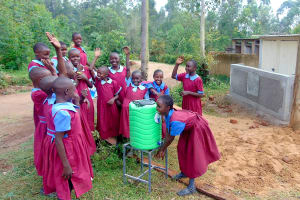 The Water Project: Kipchorwa Primary School -  Who Has Clean Hands We Do