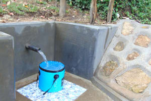 The Water Project: Buyangu Community, Mukhola Spring -  Clean Water Flowing
