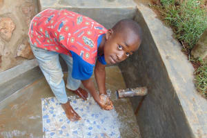 The Water Project: Shivembe Community, Murumbi Spring -  Shyness Is A Trait Of Happiness