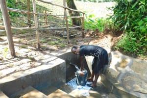 The Water Project: Imbinga Community, Imbinga Spring -  Easy Filling Up