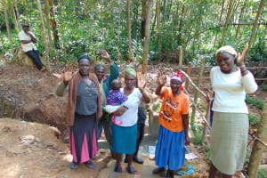 The Water Project: Shivembe Community, Murumbi Spring -  Community Members Celebrate The Spring