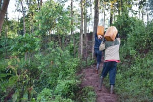 The Water Project: Busichula Community, Marko Spring -  Carrying Clean Water Home