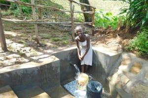 The Water Project: Imbinga Community, Imbinga Spring -  Smiles At The Spring