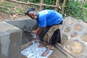 The Water Project: Buyangu Community, Mukhola Spring -  Happy Day