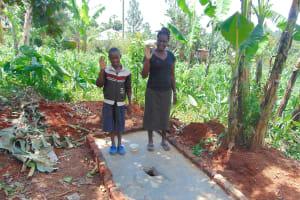 The Water Project: Shivembe Community, Murumbi Spring -  New Sanitation Platform Owners