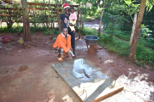 The Water Project: Busichula Community, Marko Spring -  Proud New Sanitation Platform Owners