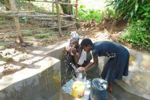 The Water Project: Imbinga Community, Imbinga Spring -  Cooling Off