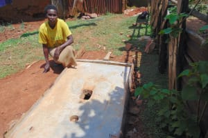 The Water Project: Shivembe Community, Murumbi Spring -  New Sanitation Platform Owner