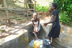 The Water Project: Imbinga Community, Imbinga Spring -  Splash Aftermath