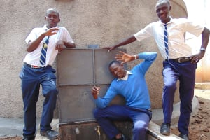The Water Project: Kamimei Secondary School -  Boys With The Rain Tank