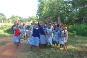 The Water Project: St. Martin's Primary School -  Pupils Pose Next To The Gate