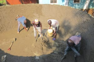 The Water Project: St. Joseph's Lusumu Primary School -  Interior Cement Work