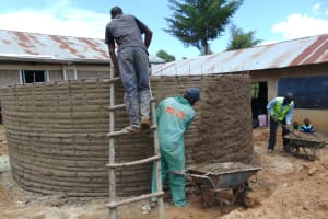 The Water Project: Mukama Primary School -  Exterior Cement Work