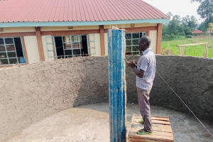 The Water Project: Mulwanda Mixed Primary School -  Artisan Cements Interior Support Pillar