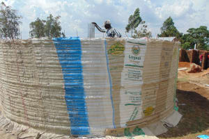 The Water Project: Ebukhayi Primary School -  Setting Central Pillar Form